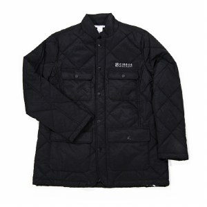 Mens Quilted Jacket BK S