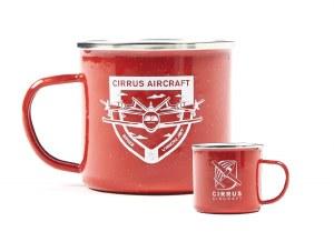 Enamel Camp Mug, Red