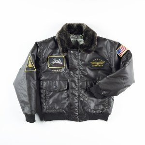 Youth Aviator Jacket Brwn M 10