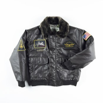 Youth Aviator Jacket Brwn M 10
