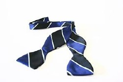 OA STRIPED HAND KNOT BOW TIE