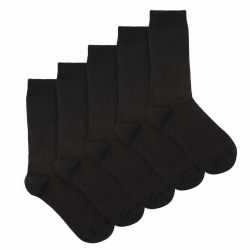 BLACK COTTON SOCKS: 9-12
