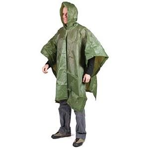 LM Vinyl Rain Poncho Military Green