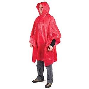 LM Vinyl Rain Poncho Red
