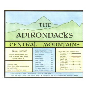 Adirondack Map Central Mountains