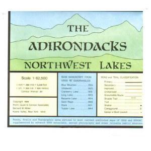 Adirondack Map Northwest Lakes