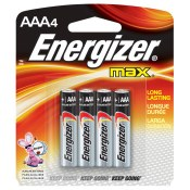 Energizer Batteries AAA 4-Pack