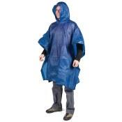 LM Vinyl Rain Poncho Blue