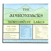 Adirondack Map Morthwest Lakes