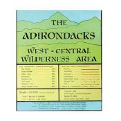 Adirondack Map West Central Wilderness Area