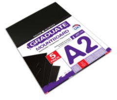 A2 Mountboard 5 Pack - Black