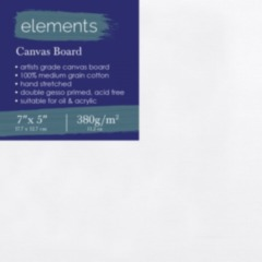 """Elements Canvas Board 7"""" x 5"""""""