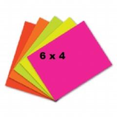 "Fluorescent Flashcards 6"" x 4"""