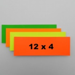 """Flashcards 12"""" x 4"""" - Fluorescent Colours"""