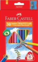 Colouring Pencils - Faber Castell 30 Extra thick Triangular colouring pencils