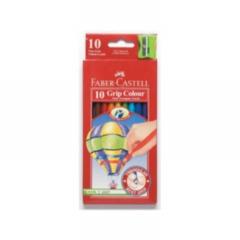 Colouring Pencils - Faber Castell 10 Extra thick Triangular colouring pencils