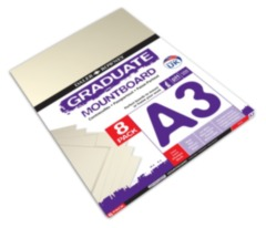 A3 Graduate Mountboard 8 Pack - Ivory