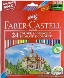 Colouring Pencils - Faber Castell 24 full length colouring pencils