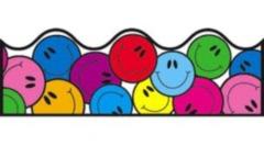 Scalloped Border - Smiley Faces