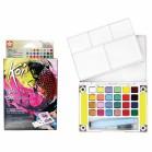 Koi Watercolours - Pocket Field Sketch Box 24 half pans