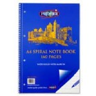 A4 160pp SPIRAL NOTEBOOK