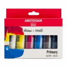 Amsterdam All Acrylics Primary Set of 6 20ml