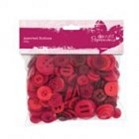 Buttons Pack 250g - Red