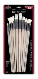 WHITE BRISTLE BRUSH SET VALUE PK