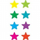 Stickers - Coloured Stars Pack of 160