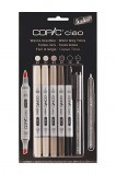 COPIC MARKER WARM GREY SET5+1