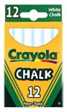 Crayola White Chalk 12 Sticks
