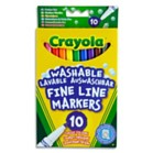 Washable Fine Line Markers Pack of 10