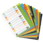 ECO A4 Index File Dividers  (extra wide)