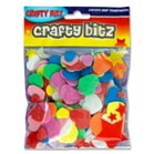 Funky Foam Hearts Pack of 75 - Assorted Colours