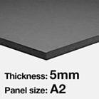 A2 Foam Board 5mm - Black
