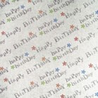 Glitter Card A4 Silver with Happy Birthday Adhesive backing