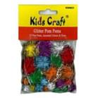 Glitter Pom Poms Pack of 25 - Assorted Sizes