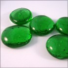 Craft Embellishments - Green glass nuggets are used for general embellishment work