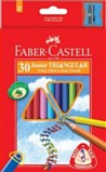 Colouring Pencils - Faber Castell 30 Extra thick Triangular colouring pencils