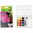 Koi Watercolours - Pocket  Field Sketch Box 12 half pans