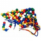 Lacing Beads 300 Pack - Assorted Colours