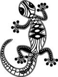 Marabu Stencil - CLIMBING GECKO
