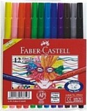 Markers - Faber Castell Colouring Markers Wallet of 12