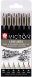 Micron Fineliners Set 6