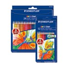 Colouring Pencils - Staedtler Noris 24 Jumbo Triangular colouring pencils