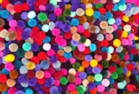 Pom Poms Pack of 100 - Assorted Colours