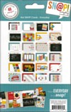48 4x6 double sided cards suitable for cardmaking and scrapbooking
