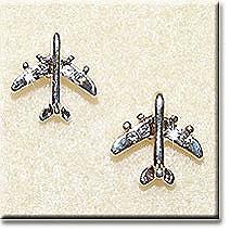 Small Silver Jet Earrings