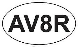 """""""AV8R""""  Oval  Sticker"""