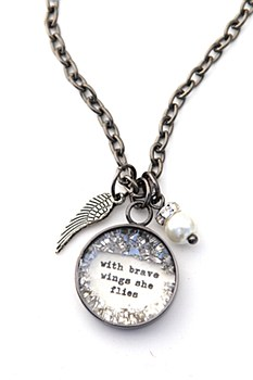 """Brave Wings.."" Charm Necklace"